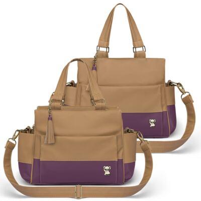 Imagem 1 do produto Bolsa maternidade para bebe Genebra + Frasqueira Térmica Zurique Due Colore Uva - Classic for Baby Bags