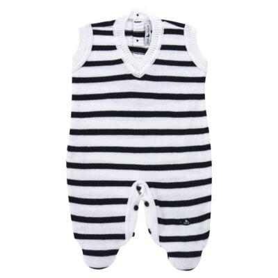 Imagem 2 do produto Macacão Pulôver c/ Casaquinho  para bebe em tricot Navy - Mini Sailor - 17994262 CASACO C/ JARDINEIRA TRICOT MARINHO -NB