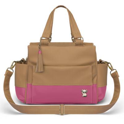 Imagem 4 do produto Mala Maternidade para bebe + Bolsa Genebra + Frasqueira Térmica Zurique  + Necessaire + Trocador Portátil Due Colore Pink - Classic for Baby Bags