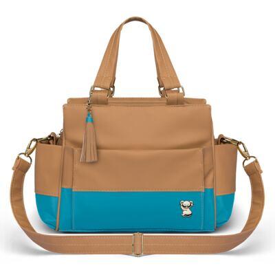 Imagem 3 do produto Mala Maternidade + Bolsa Térmica Zurique + Mini Bolsa Due Colore Turquesa - Classic for Baby Bags