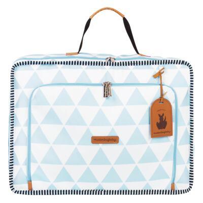 Imagem 2 do produto Mala maternidade Vintage + Bolsa 4 em 1 Sofia + Frasqueira térmica Vicky + Mochila Noah + Necessaire Manhattan Azul - Masterbag