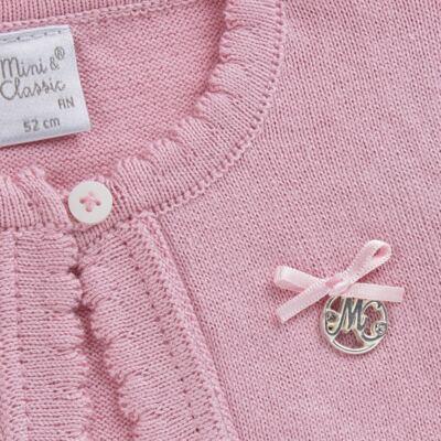 Imagem 6 do produto Macacão c/ Bolero para bebe em algodão egípcio Florale - Mini & Classic - 21664172 MACACAO ML  CASACO SUEDINE/TR FLORAL-M