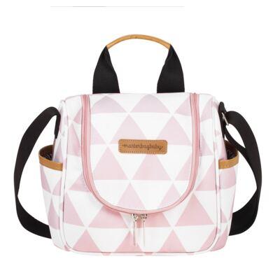 Imagem 6 do produto Mala maternidade Vintage + Bolsa Everyday + Frasqueira térmica Emy + Mochila Noah + Necessaire Manhattan Rosa - Masterbag
