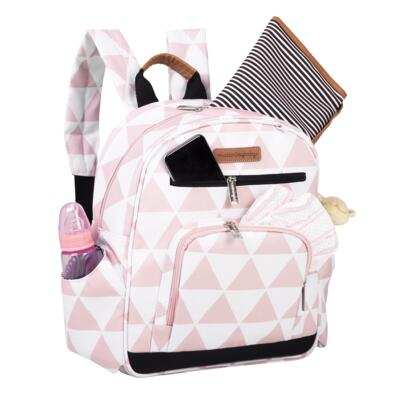 Imagem 7 do produto Mala maternidade com Rodízio + Bolsa Sofia 4 em 1 + Frasqueira térmica Vicky + Mochila Noah + Necessaire para bebe Manhattan Rosa - Masterbag