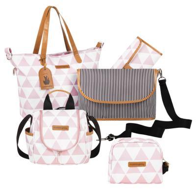 Imagem 1 do produto Bolsa 4 em 1 Sofia + Frasqueira térmica Emy + Necessaire Manhattan Rosa - Masterbag