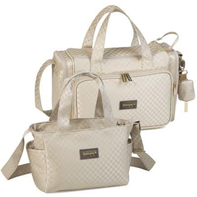 Imagem 1 do produto Bolsa Anne + Frasqueira Alice para bebe Paris Ouro - Masterbag