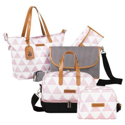 Imagem 1 do produto Bolsa 4 em 1 Sofia + Frasqueira térmica Vicky + Necessaire Manhattan Rosa -Masterbag