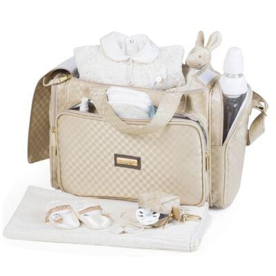 Imagem 3 do produto Bolsa Anne + Frasqueira Alice + Mochila maternidade Paris Ouro - Masterbag