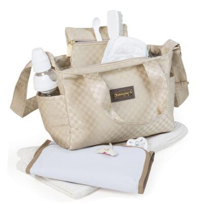 Imagem 5 do produto Bolsa Anne + Frasqueira Alice + Mochila maternidade Paris Ouro - Masterbag