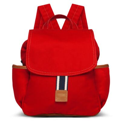 Imagem 2 do produto Mochila maternidade + Trocador + Porta mamadeira Adventure em sarja Vermelha - Classic for Baby Bags