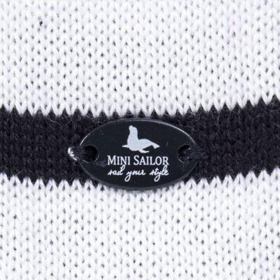 Imagem 3 do produto Macacão Pulôver c/ Casaquinho  para bebe em tricot Navy - Mini Sailor - 17994262 CASACO C/ JARDINEIRA TRICOT MARINHO -9-12