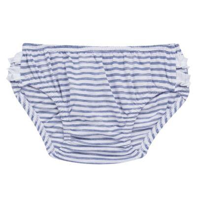 Imagem 6 do produto Vestido com Calcinha para bebe em malha Navy - Tilly Baby - TB168201 CONJ FEMININO VESTIDO C/ CALCINHA LISTRADO-GG
