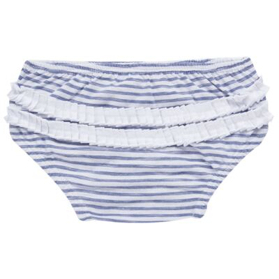 Imagem 7 do produto Vestido com Calcinha para bebe em malha Navy - Tilly Baby - TB168201 CONJ FEMININO VESTIDO C/ CALCINHA LISTRADO-GG