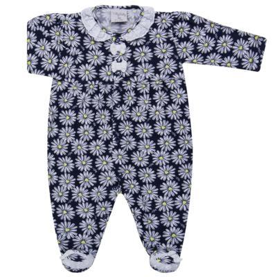 Imagem 1 do produto Macacão longo para bebe em malha Laise - Tilly Baby - TB168431 MACACAO ML FEM MARGARIDAS LAISE-P