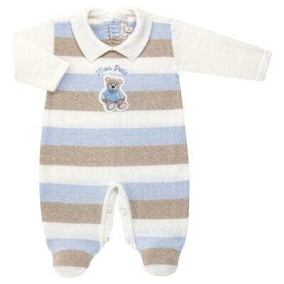 Imagem 1 do produto Macacão c/ golinha para bebe em tricot Mon Petit - Petit - 21884281 MACACAO C/ GOLA TRICOT AZUL BEBE-M