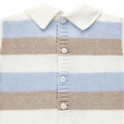 Imagem 3 do produto Macacão c/ golinha para bebe em tricot Mon Petit - Petit - 21884281 MACACAO C/ GOLA TRICOT AZUL BEBE-M