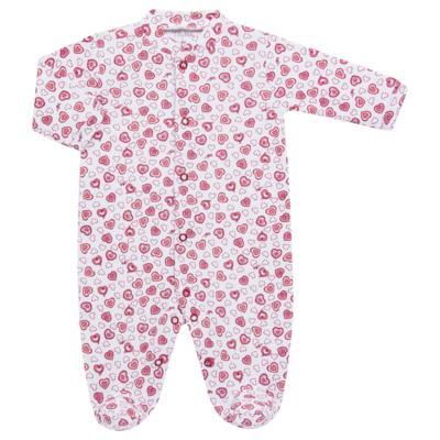 Imagem 3 do produto Macacão longo com Casaco em algodão egípcio Little Hearts - Tilly Baby - TB168162 MACACAO C/ CASACO FEM SUEDINE CORAÇÕES-P