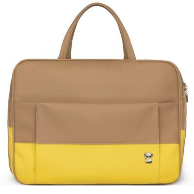 Imagem 2 do produto Mala Maternidade para bebe + Bolsa Genebra + Frasqueira Térmica Zurique Due Colore Amarelo - Classic for Baby Bags