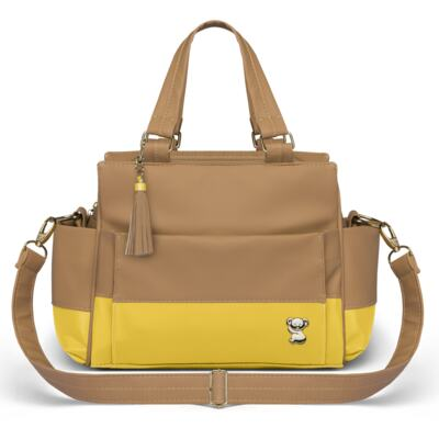 Imagem 4 do produto Mala Maternidade para bebe + Bolsa Genebra + Frasqueira Térmica Zurique Due Colore Amarelo - Classic for Baby Bags