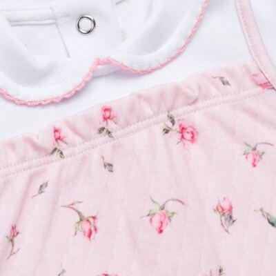 Imagem 2 do produto Macacão longo c/ golinha para bebe em algodão egípcio Flora - Bibe - 39C16-G78 MAC DEM ML FLORES-G