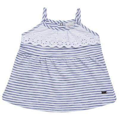 Imagem 2 do produto Vestido com Calcinha para bebe em malha Navy - Tilly Baby - TB168201 CONJ FEMININO VESTIDO C/ CALCINHA LISTRADO-M