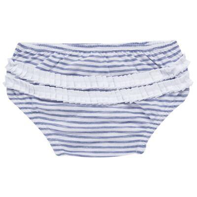 Imagem 7 do produto Vestido com Calcinha para bebe em malha Navy - Tilly Baby - TB168201 CONJ FEMININO VESTIDO C/ CALCINHA LISTRADO-M