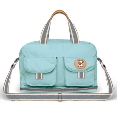Imagem 2 do produto Bolsa Maternidade para bebe  Ibiza + Frasqueira Térmica Toulon +  Porta Mamadeira em sarja Adventure Azul - Classic for Baby Bags
