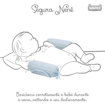 Imagem 6 do produto Kit Berço: Rolinhos Laterais + Rolinho Cabeceira + Manta + Segura nenê + Jogo de Lençol  Mon Petit - Petit