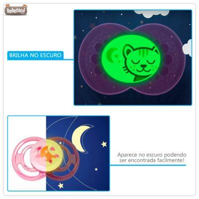 Imagem 6 do produto Chupeta Perfect Night Girls Tam 1 (0-6m) Moon - MAM - MAM2498-A  Chupeta Perfect Night Girls (0m+) Moon
