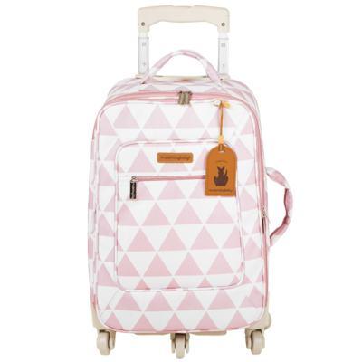 Imagem 2 do produto Mala maternidade com Rodízio + Bolsa 4 em 1 Sofia + Frasqueira térmica Vicky + Mochila Noah Manhattan Rosa - Masterbag