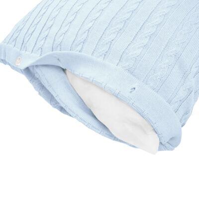 Imagem 10 do produto Kit Berço: Rolinhos Laterais + Rolinho Cabeceira + Almofada Quadrada + Manta em tricot trançado Mon Petit - Petit