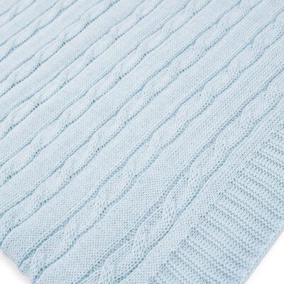 Imagem 12 do produto Kit Berço: Rolinhos Laterais + Rolinho Cabeceira + Almofada Quadrada + Manta em tricot trançado Mon Petit - Petit