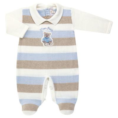 Imagem 1 do produto Macacão c/ golinha para bebe em tricot Mon Petit - Petit - 21884281 MACACAO C/ GOLA TRICOT AZUL BEBE-G