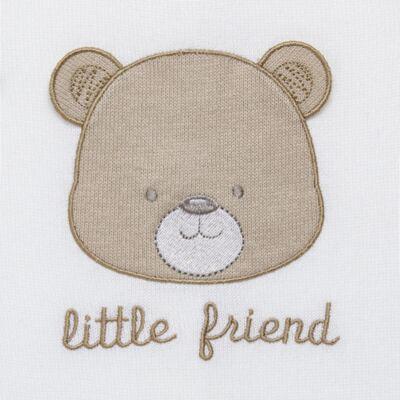 Imagem 2 do produto Macacão longo para bebe em tricot Nature Little Friends - Mini & Classic - 3071650 MACACAO TRICO BORDADO NATURE-RN