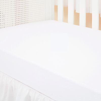 Imagem 1 do produto Lençol de baixo para berço em malha Branco - Biramar Baby