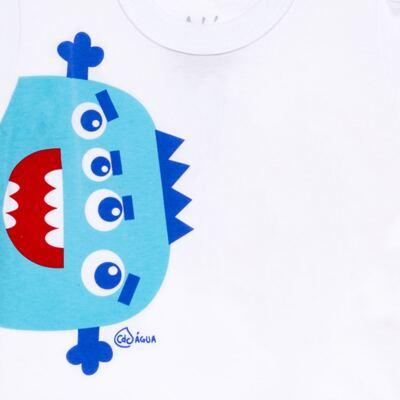 Imagem 3 do produto Conjunto de Banho Monstrinhos: Camiseta + Sunga - Cara de Criança