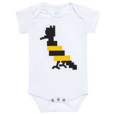 Imagem 1 do produto Body curto para bebe Abelha - Reserva Mini - RM23174 MACAQUINHO NN PICA PAU ABELHA-P