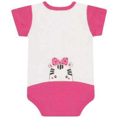 Imagem 3 do produto Body curto para bebe em suedine Zebrinha - Vicky Lipe - 937329 BODY MC COM ABERTURA SUEDINE ZEBRA-M