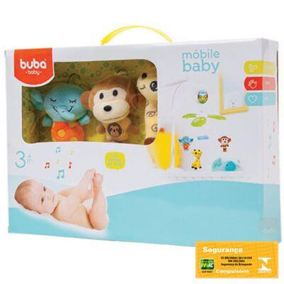 Imagem 2 do produto Móbile Musical para Bebe Jungle Friends (3m+) - Buba - BUBA6683 MÓBILE BABY