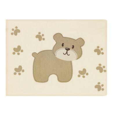 Imagem 3 do produto Jogo de lençol para berço em malha Ursinho 2 peças - Pingo Lelê - PL4510 KIT ROUPA DE CAMA MALHA 2 PECAS MARFIM