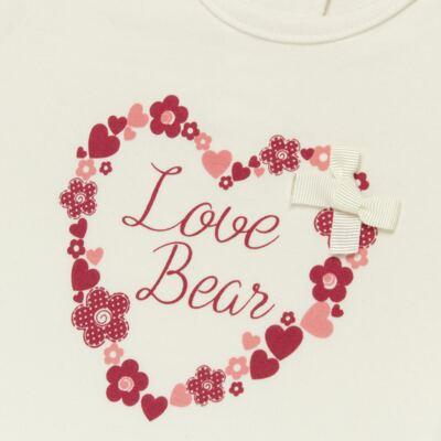 Imagem 2 do produto Blusinha para bebe em cotton Flowery Bear - Vicky Lipe - 1371360 BLUSINHA MC COTTON URSA FLORAL-M
