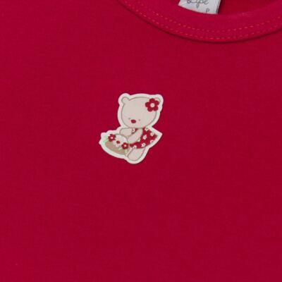 Imagem 3 do produto Body curto com Shorts para bebe em suedine Flowery Bear - Vicky Lipe - CSH1360 BODY M/C C/ SHORTS SUEDINE URSA FLORAL-P