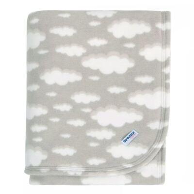 Imagem 1 do produto Cobertor para bebe em microsoft Nuvenzinhas - Biramar Baby - 33999-2665 COBERTOR MICROSOFT ESTAMPADO NUVENZINHA CINZA