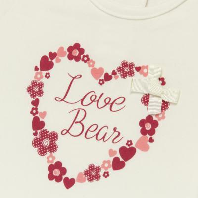 Imagem 2 do produto Blusinha para bebe em cotton Flowery Bear - Vicky Lipe - 1371360 BLUSINHA MC COTTON URSA FLORAL-1