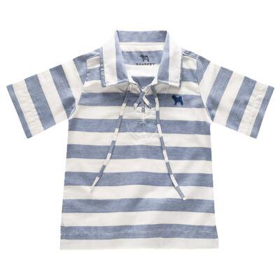 Imagem 1 do produto Bata para bebe em linho Stripes - Charpey - CY20104.552 BATA LINHO LISTRADO NOITE -P