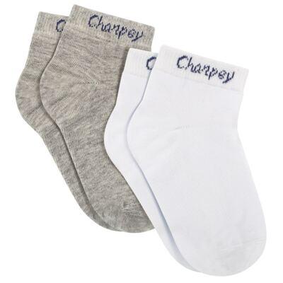 Imagem 1 do produto Pack 2 meias Soquete Branco/Mescla - Charpey