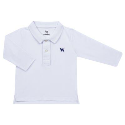 Imagem 1 do produto Camiseta Polo em piquet Branca - Charpey - CY21158.101 POLO MASC PIQUE ML BRANCO-1