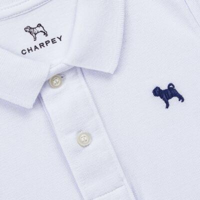 Imagem 2 do produto Camiseta Polo em piquet Branca - Charpey - CY21158.101 POLO MASC PIQUE ML BRANCO-1