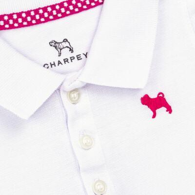 Imagem 3 do produto Blusinha Polo em piquet Branca - Charpey