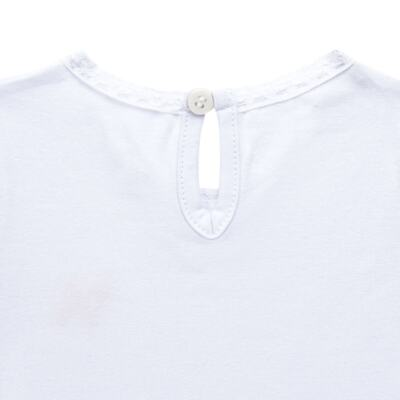 Imagem 3 do produto Blusinha para bebe em cotton Branca - Charpey - CY21302.101 BLUSA COTTON ML BRANCO-2